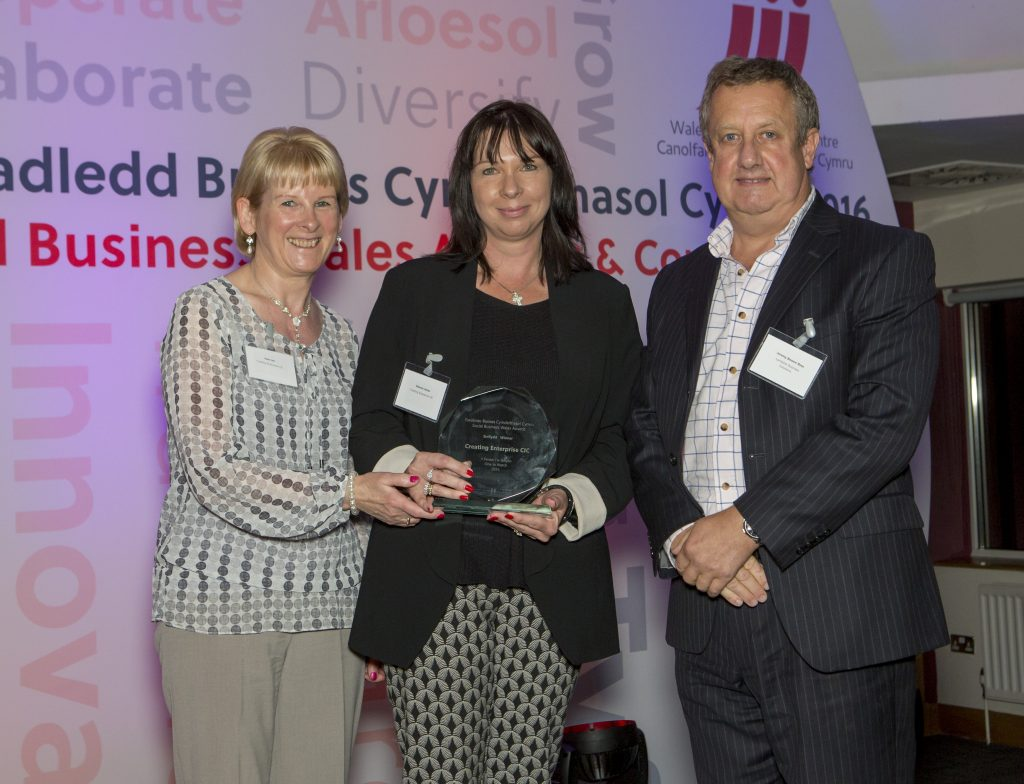 Winner of Wales One to Watch Award 2016 (Social Business Wales)