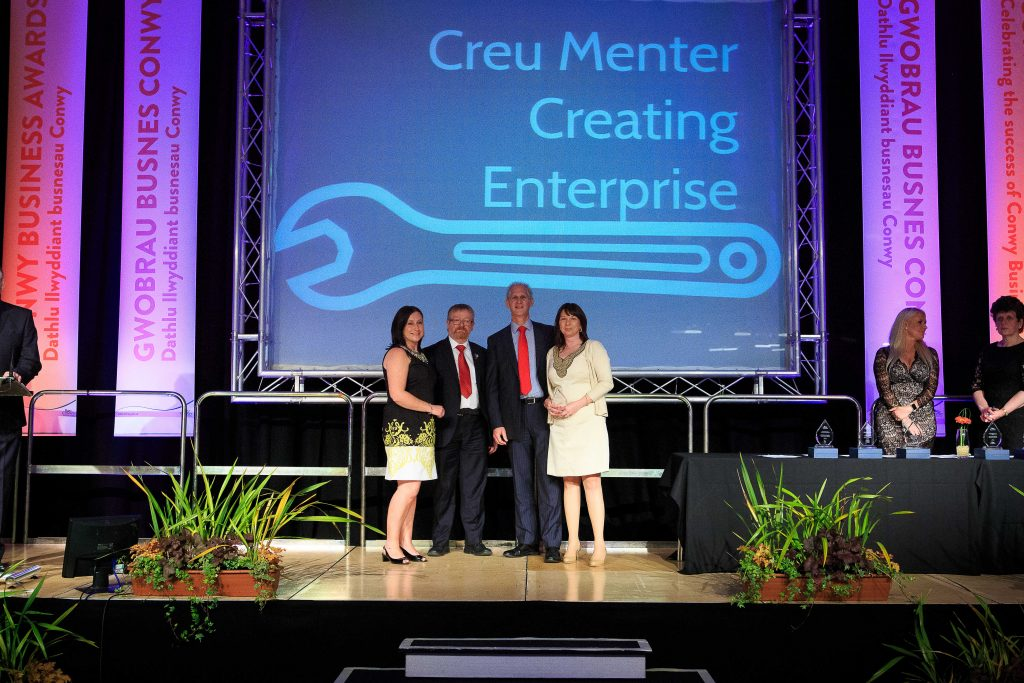Cartrefi Conwy Accepting Award Photo
