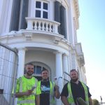 Creating Enterprise decorators at Dylans - Jordan Davies (l), Ben Crabtree (c), Craig Palmer (r)