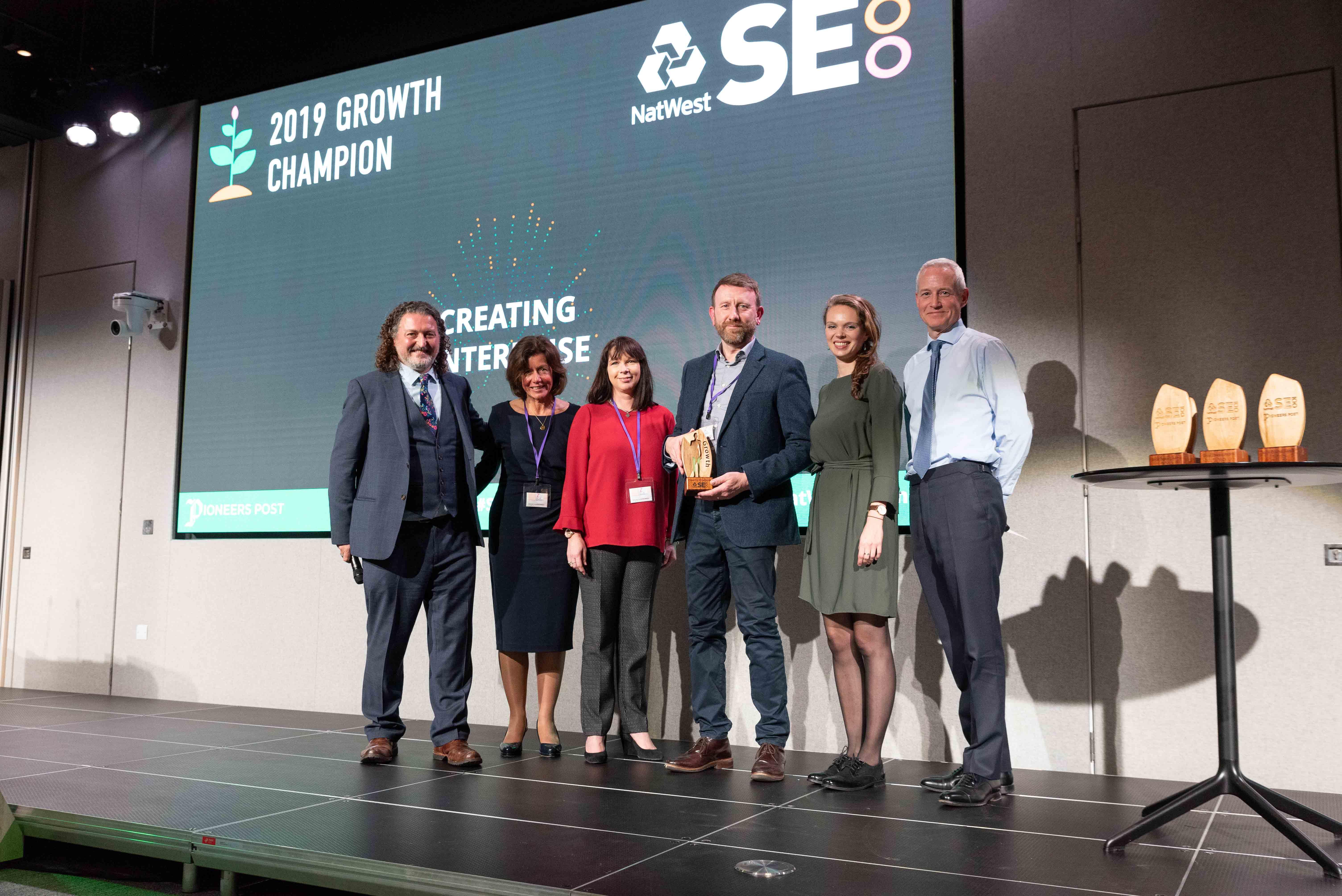 Winners of SE100 Growth Award 2019