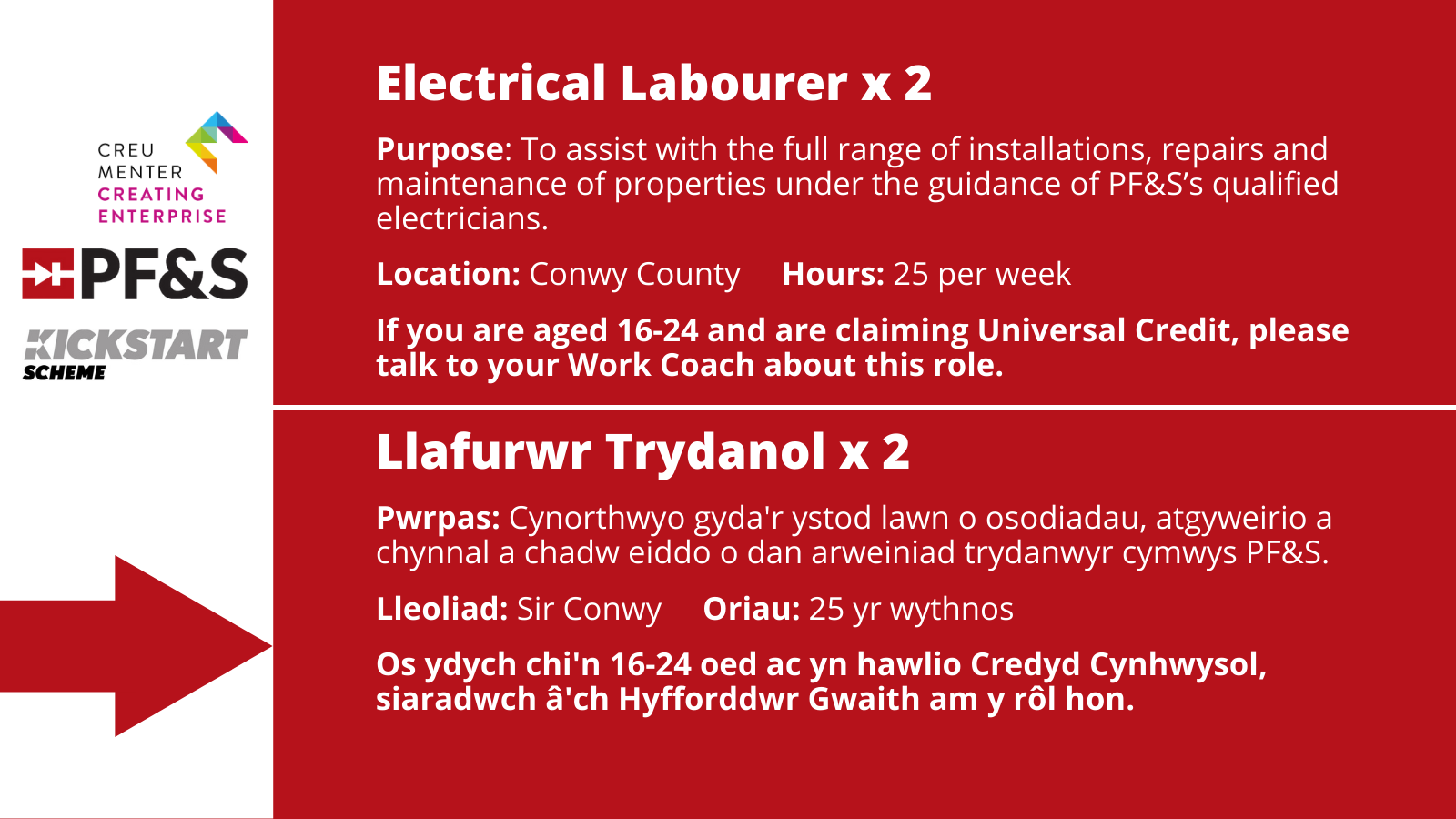 Electrical Labourer x 2