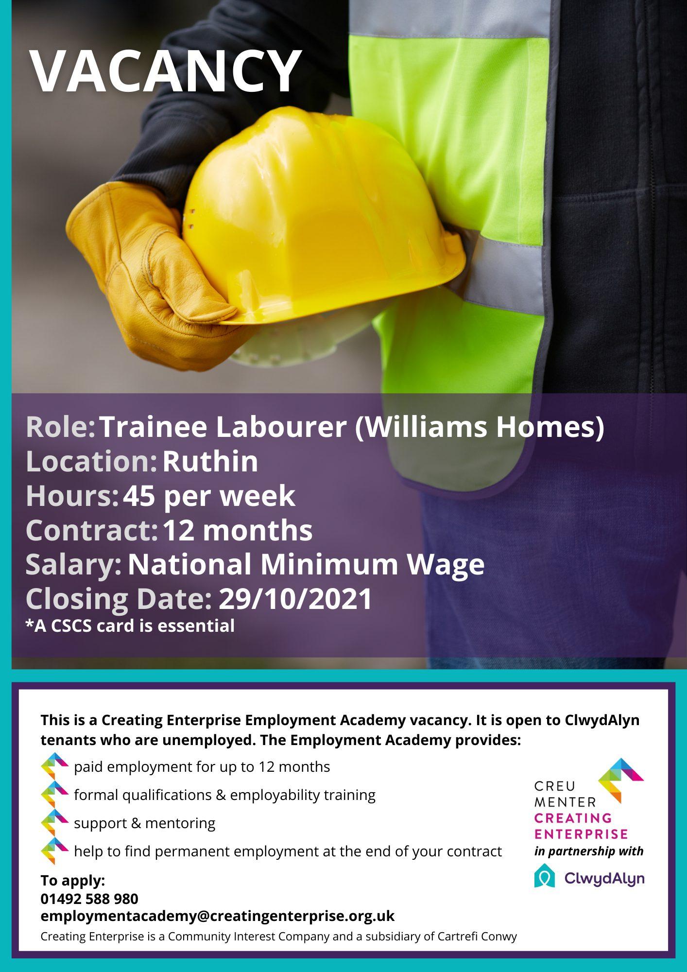 Trainee Labourer